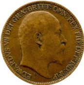 1902 to 1910 farthing Edward VII Grade From Fair to VF
